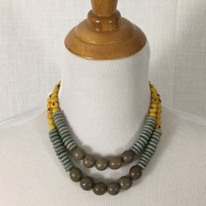 NWT boho artisan-crafted bead necklace